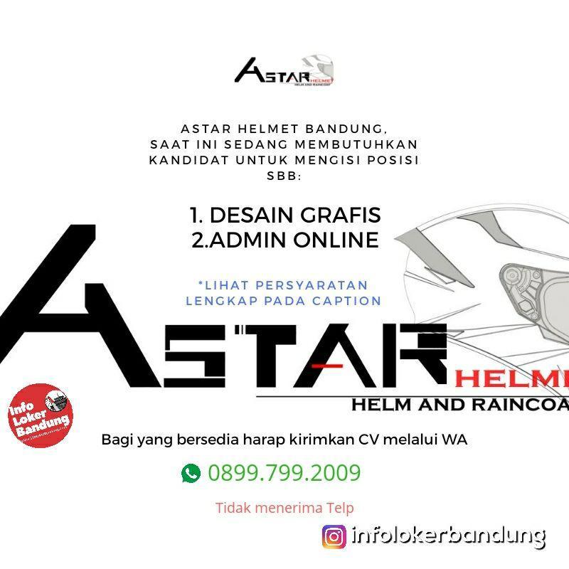 Lowongan Kerja Astar Helmet & Raincoat Bandung Februari 2019