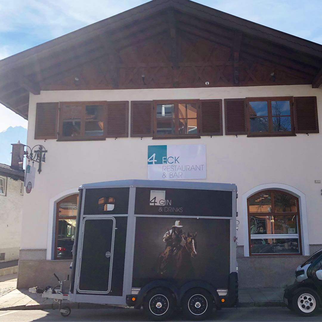 Homebase 4Eck, Hochzeit, Horsebox-Bar, Hochzeitsempfang, mobile Bar, Pop-up-Bar, Bar-Team, Event-Bar, rent a Bar, Garmisch-Partenkirchen, Hochzeitsbar, 4 Gin & Drinks