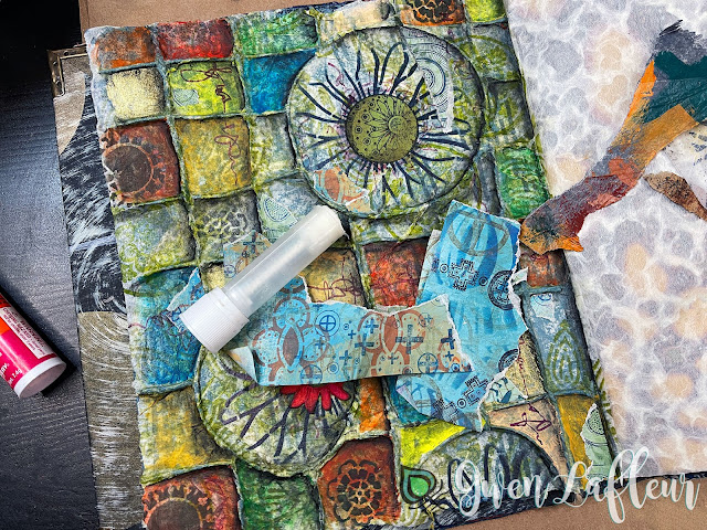 Textural Art Journaling with Stencils - Tutorial Step 9 - Gwen Lafleur