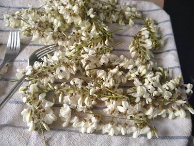 Beignets de fleurs d'acacia