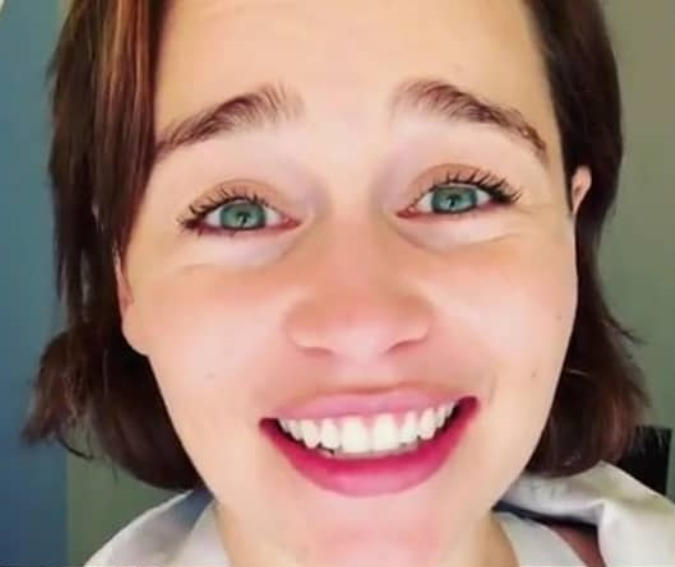 Emilia Clarke doesn't need makeup