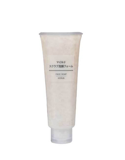 2. Sữa rửa mặt Muji face soap scrub tẩy da chết