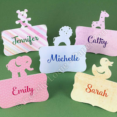 Animal Place Card for Birthday Party or Baby Shower