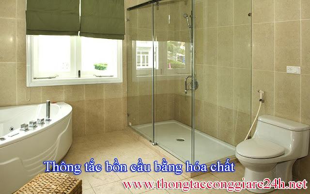 Thông tắc bồn cầu bằng hóa chất,thông bồn,cống,toilet,thoát sàn nhà vệ sinh