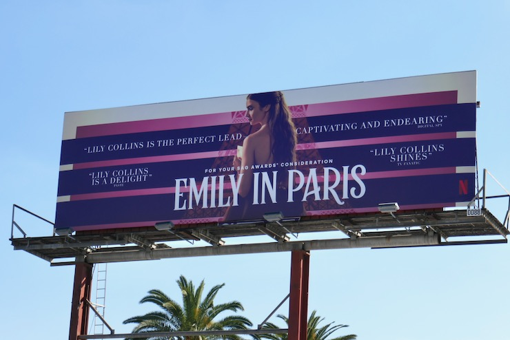 Emily in Paris season 1 SAG Awards FYC billboard
