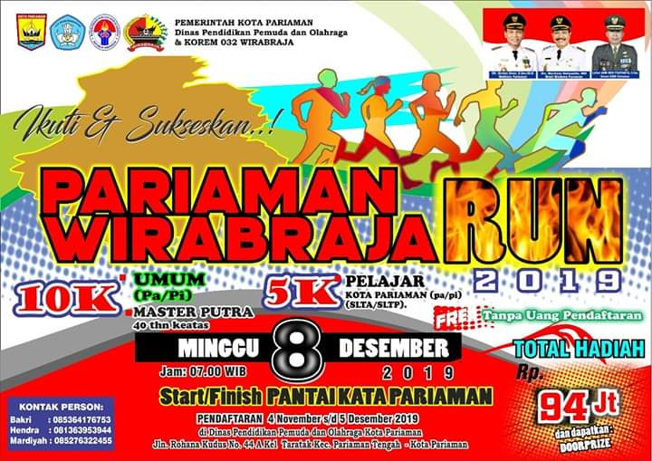 Pariaman Wirabraja Run • 2019