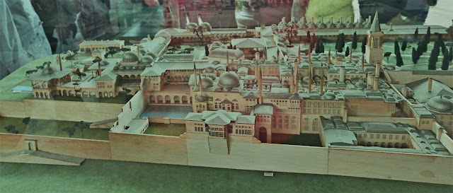 The model display of Topkapi Palace in Istanbul, Turkey
