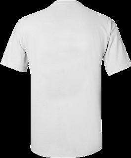 mentahan kaos polos png putih belakang
