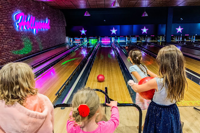 Having a great time reviewing a bowling party at Hollywood Bowl