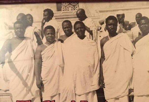 Throwback photo of IBB with Shehu Musa Yar'Adua and Murtala Nyako during a pilgrimage in 1989