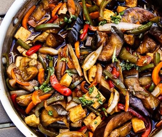 THAI BASIL EGGPLANT (VEGAN, GLUTEN-FREE) #vegetarian #lunch