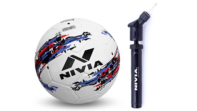 Nivia Storm Football - Proudly Made in India for Rough and Extreme Playing Condition