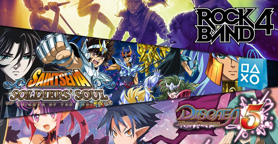 Atualização da PS Store: Saint Seiya, Rock Band, Disgaea e