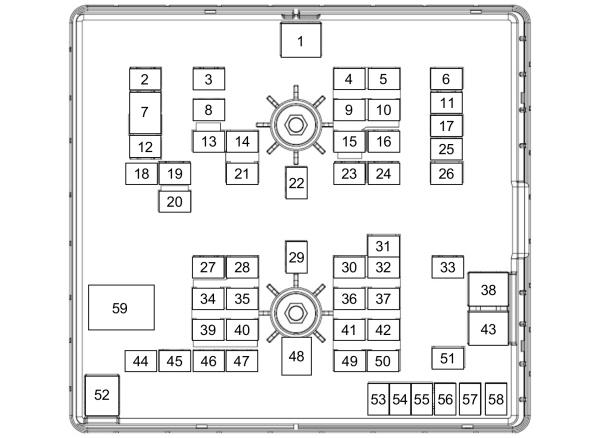 Engine Compartment Fuse Box Panel