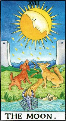 The Moon Tarot Card Meanings- Major Arcana