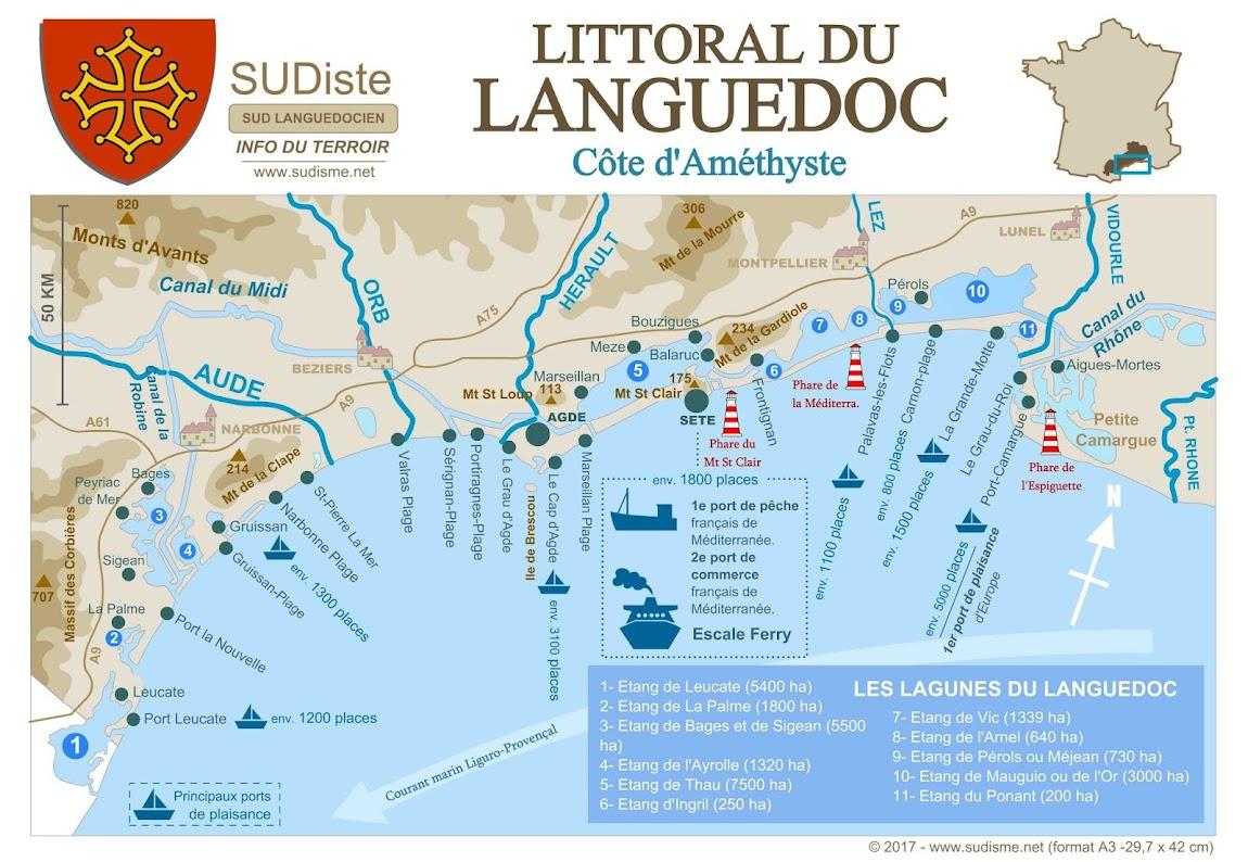 Le littoral du Languedoc