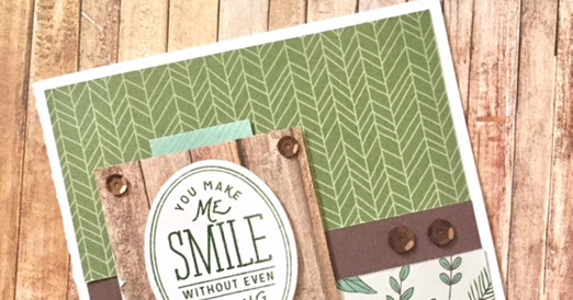 You Make Me Smile Card using Fresh Air
