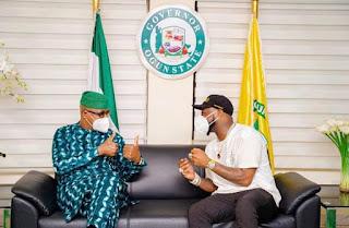 Davido Visits Governor Dapo Abiodun In Ogun