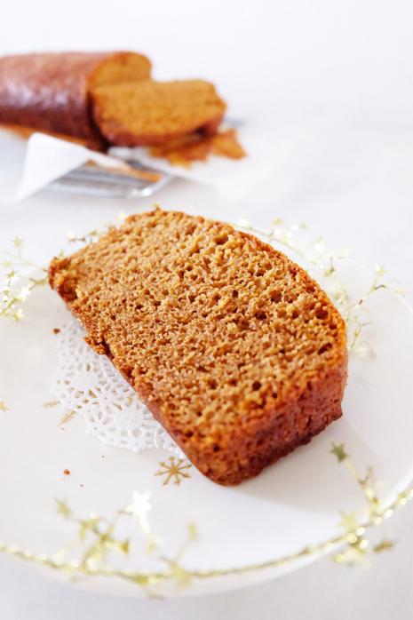 slice of baked Honey Cake plated