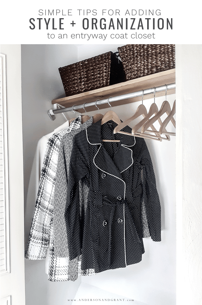 Tips for adding organization to coat closet