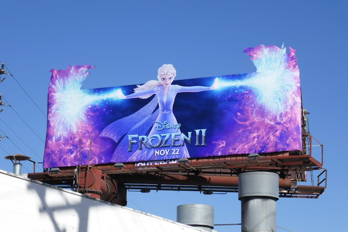 Elsa Frozen II movie billboard