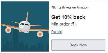 Get Rs.1000 Back On Flight booking   Amazon Flight Offer