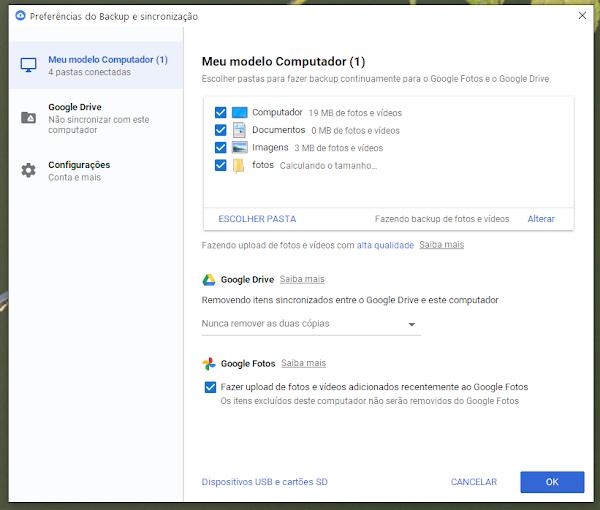 Google Fotos no Windows 10