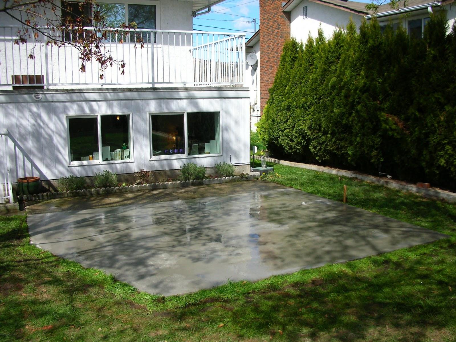 MODE CONCRETE: Concrete Patios, Concrete Slabs, Driveways ... on Concrete Slab Backyard Ideas id=37516