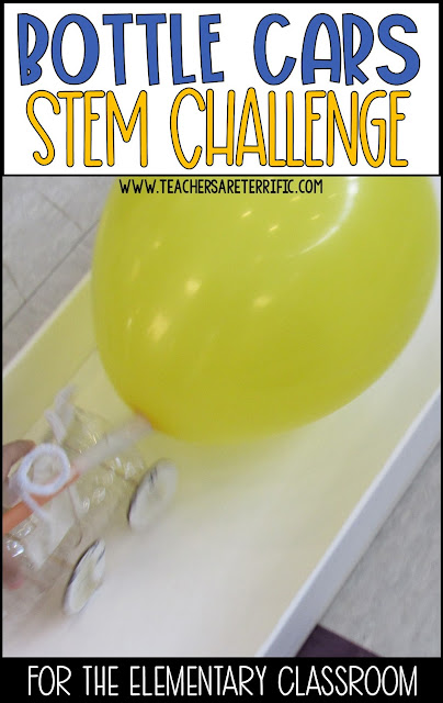 STEM Challenge Build a Bottle Car for a hands-on activity for Newton's Third Law of Motion!
