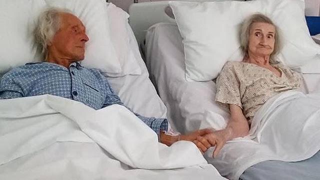 62 Tahun Menikah, Potret Haru Pasangan Lansia Pegangan Tangan Terakhir Kalinya Saat Sekarat