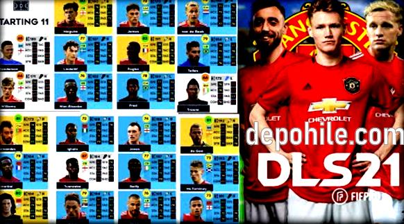 DLS 21 Manchester United Takım Yaması İndir Para Hileli