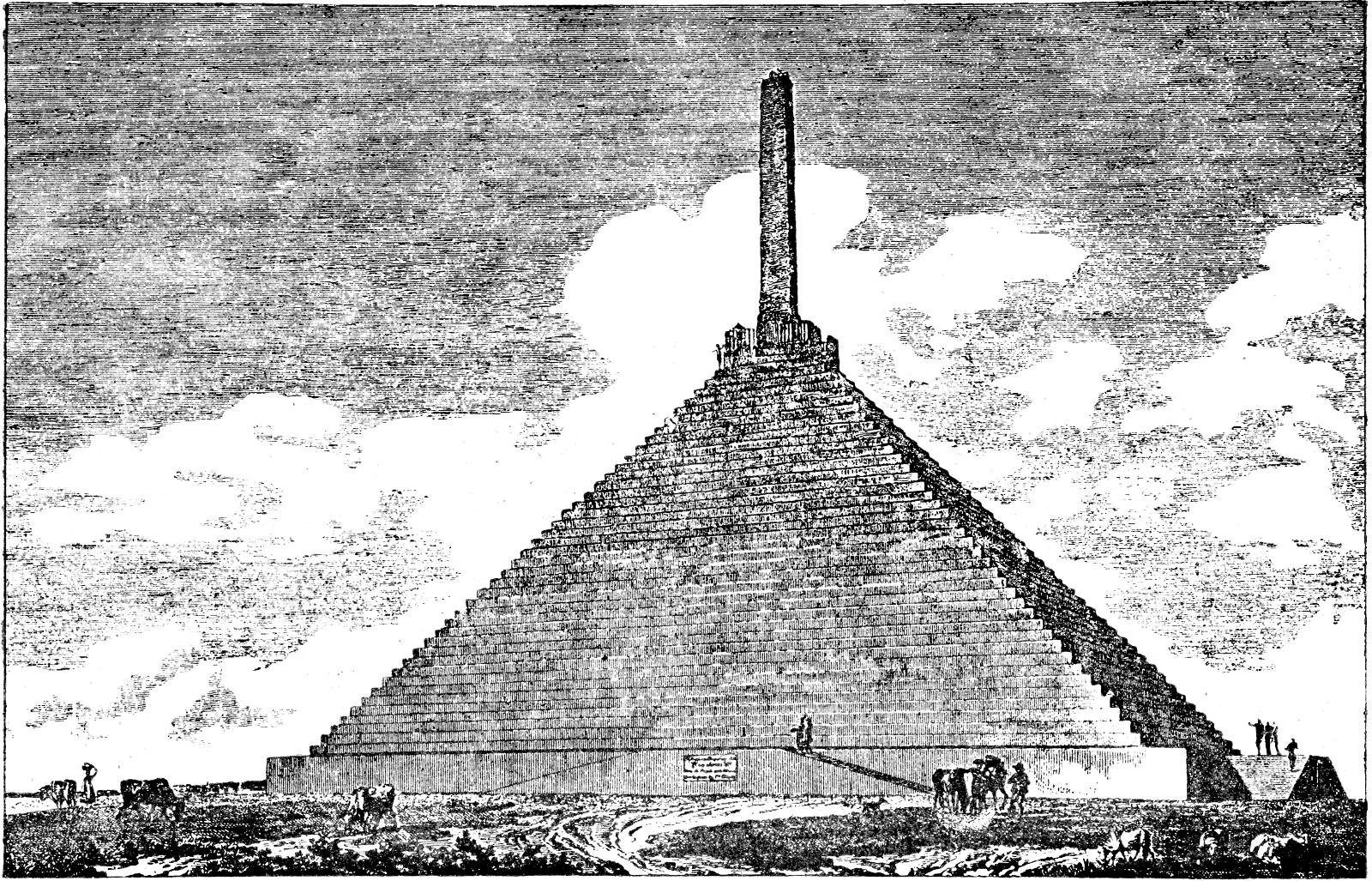 Пирамида в 1805 г. Изображение Wikimedia