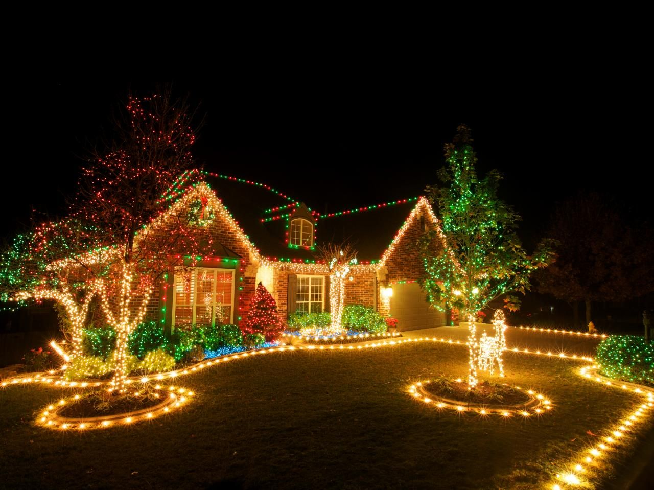 luces en casa en navidad