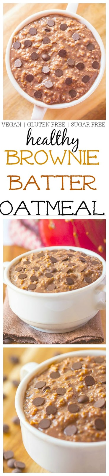 Vegan Brownie Batter Oatmeal Recipe (Vegan, Gluten Free)