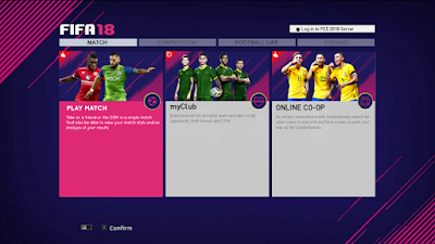 PES 2013 Theme FIFA 18 Style Graphic Menu