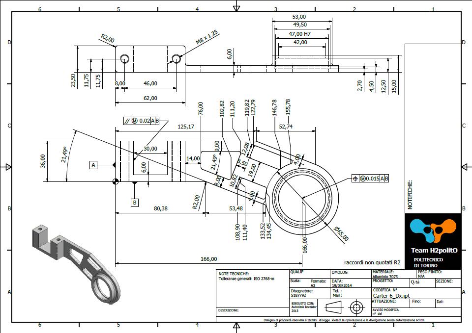 Team H2politO: La progettazione meccanica: dal modello