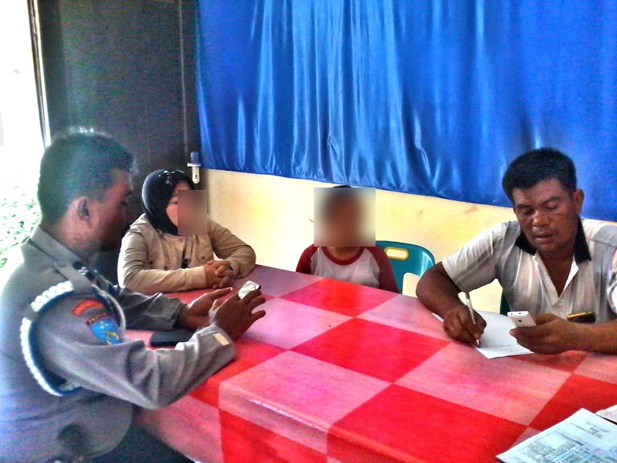 Siswi SMP yang hamil membuat pengaduan ke kantor polisi.