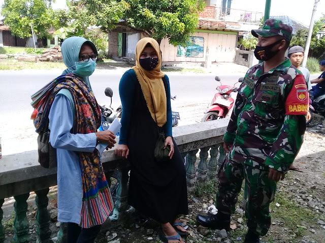 Mempererat Kemanunggalan Babinsa Koramil 21 Juwiring Anjangsana Ke Warga Desa Binaan