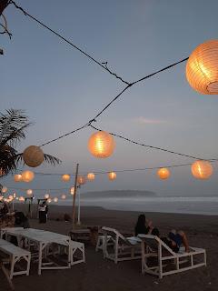 Kampung Turis Pangandaran disaat sunset