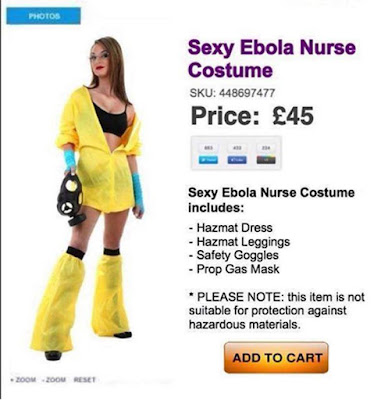 Sexy Ebola Nurse costume Fail