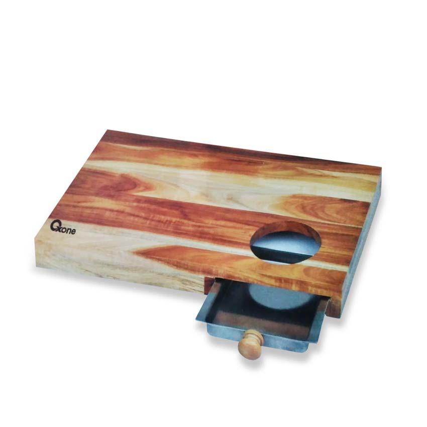 OX-614 Bamboo Board with Metal Tray Oxone