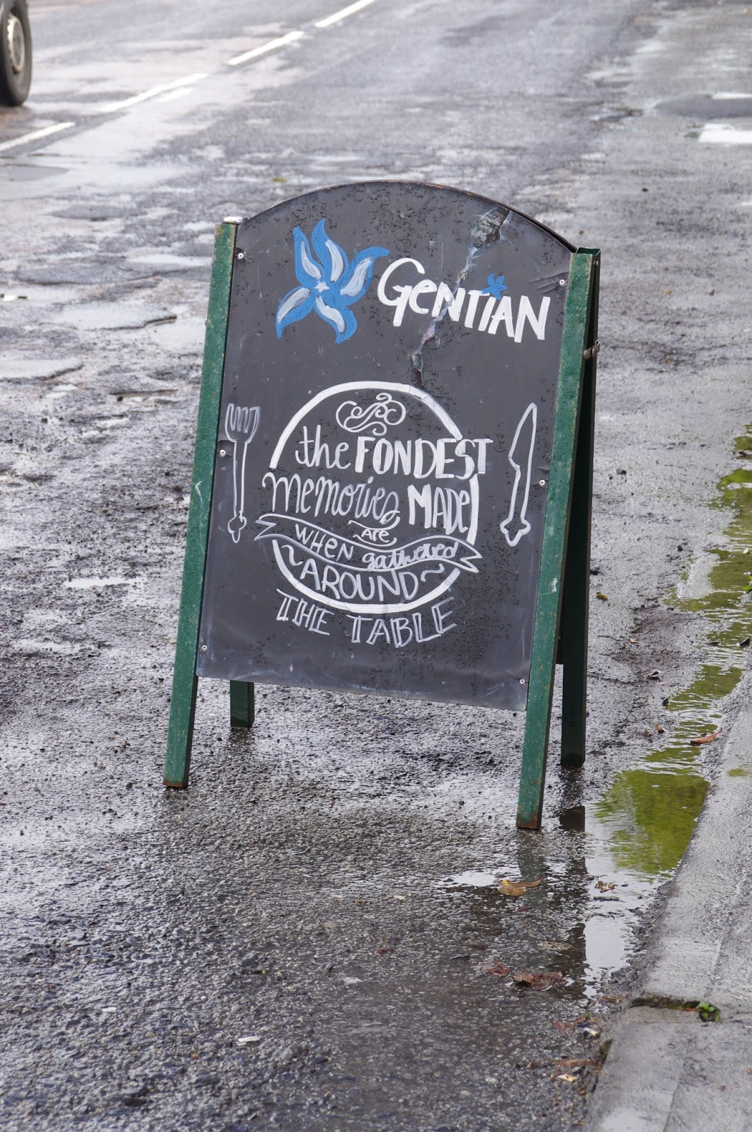 Gentian Cafe Sign Kinvara Ireland