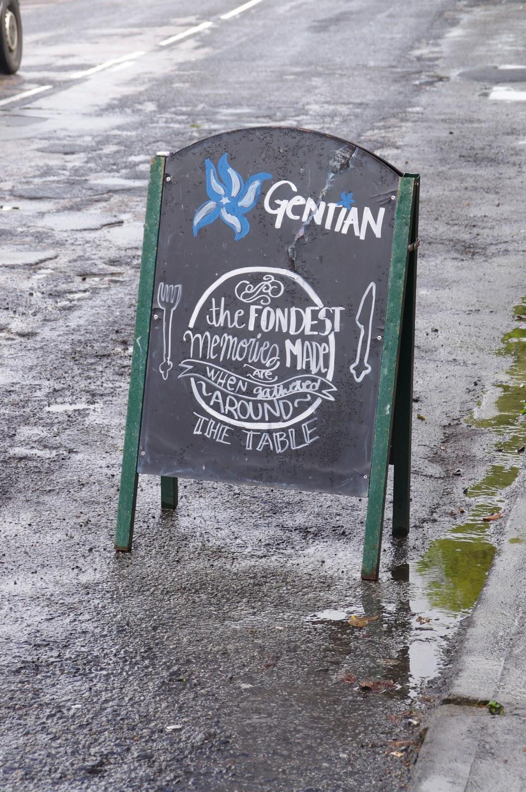Gentian Cafe Sign Kinvara Ireland