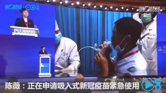 CanSino presenta la primera vacuna vía nasal contra COVID del mundo
