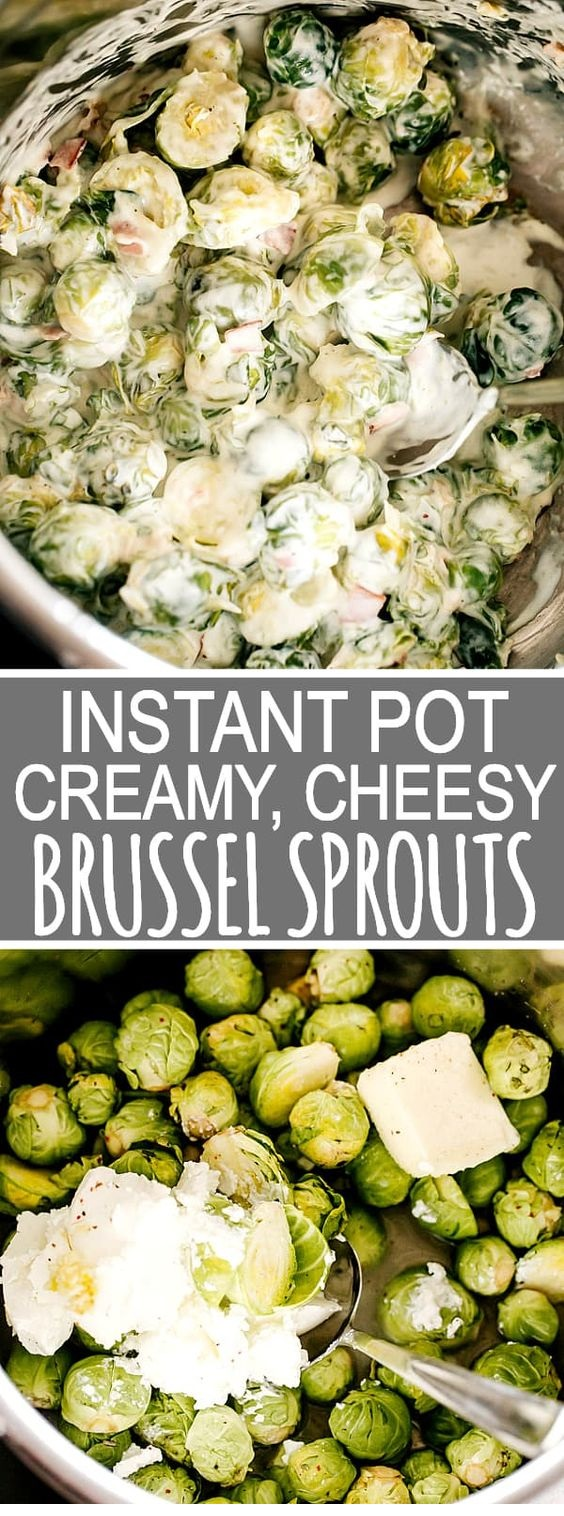 Instant Pot Creamy Brussel Sprouts