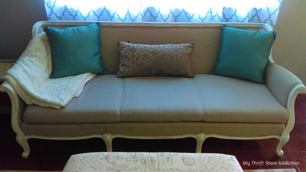 Chalk painted sofa