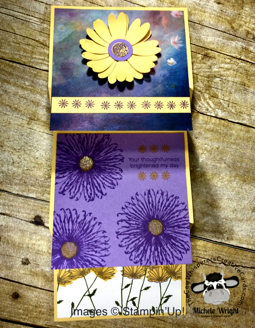 Card, Daisy Delight, Daisy Punch, Fancy Fold