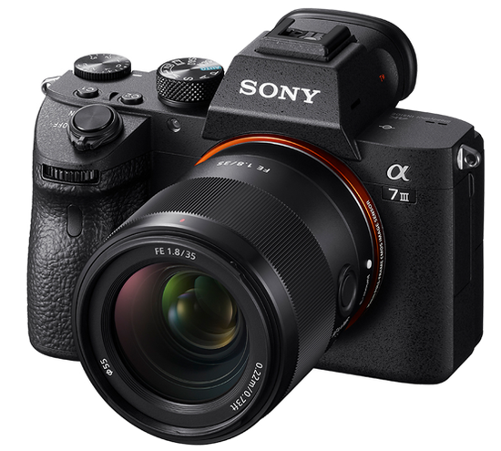 Sony full-frame lens FE 35mm F1.8 release large aperture lightweight