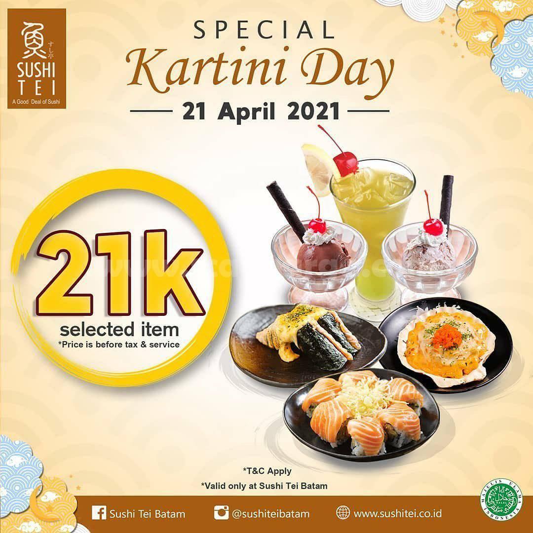 SUSHI TEI BATAM Promo KARTINI DAY - Special Price 21K untuk menu pilihan