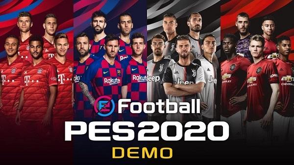 ديمو لعبة PES 2020 متوفر على جميع الأجهزة الأن و الكشف عن الغلاف الرسمي للنسخة النهائية من هنا